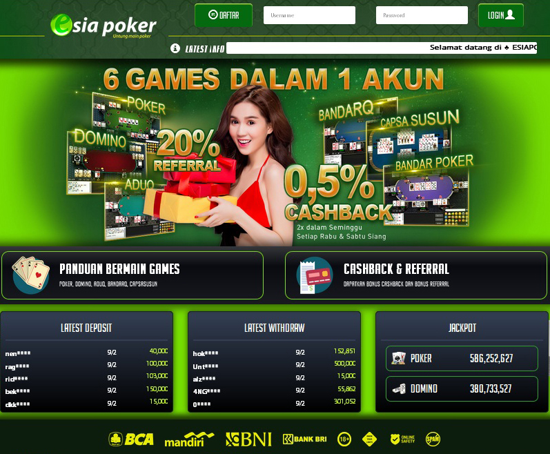 Esiapoker Agen Poker Judi Domino Terpercaya Dan Capsa Online